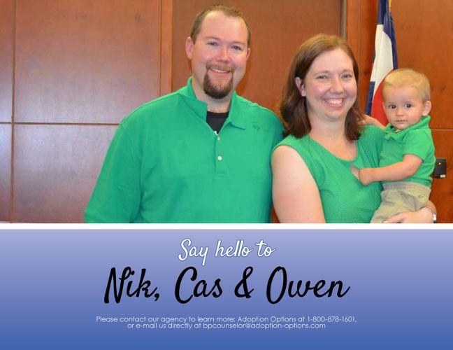 Nik, Cas and Owen's Adoptive Family Profile
