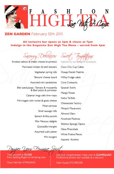 """Fashion High Tea"" Event Booklet"