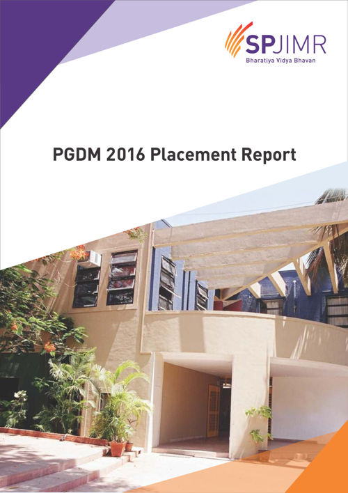 PGDM Placement Report2016