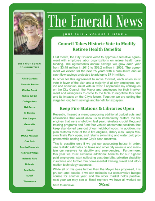 The Emerald News: Volume 3, Issue 6 (June 2011)