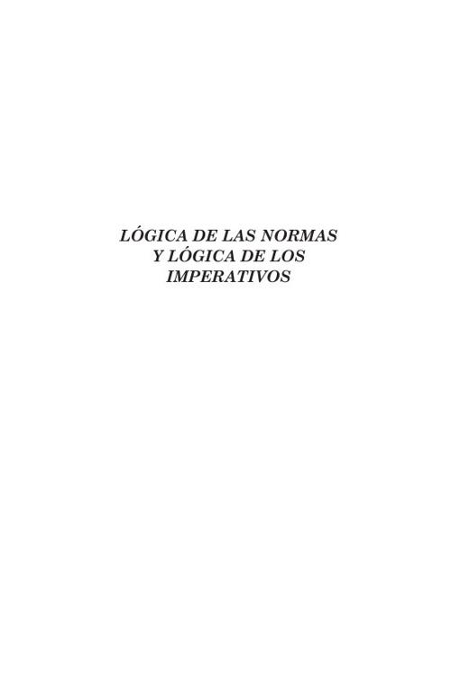 2.1 Lógica de las Normas