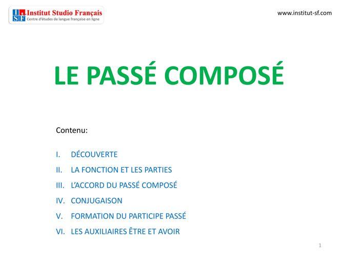 01 Passé Composé FACILE ISF - libro 01