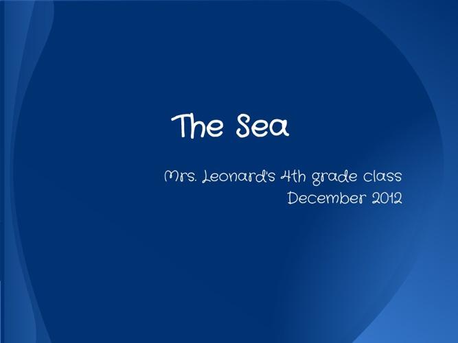 The Sea 2012