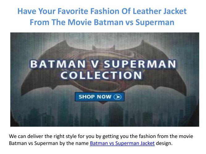 Batman vs Superman Leather Jacket For Fashionable People
