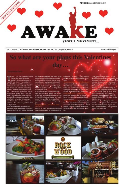 awake newspaper - valentine special...