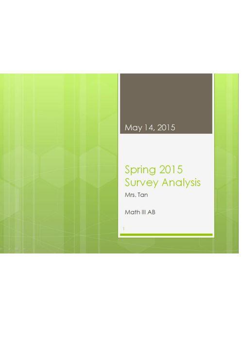 Spring 2015 Survey Data Analysis