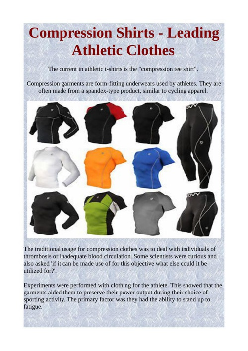 Compression Shirts - Leading Athletic Clothes