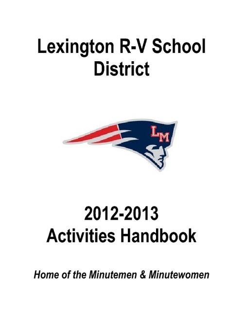 2012-2013 Activities Handbook