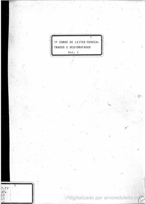 1° Curso de Leites Concentrados e Desidratados - 1984