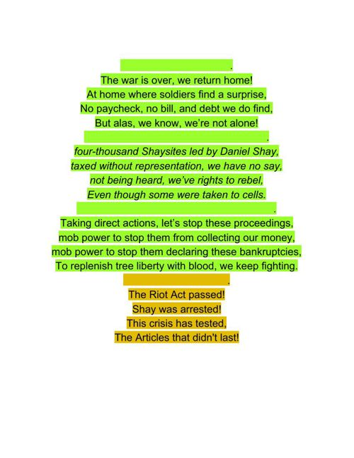 Historical Song -Shays' Rebellion History
