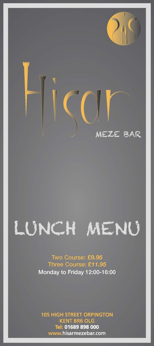 Hisar Meze Bar - Lunch Menu