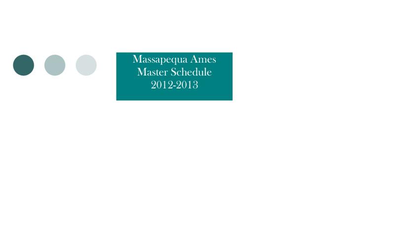 Ames 2012-2013 Master Schedule