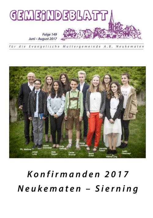 Gemeindeblatt Neukematen - Ausgabe 149