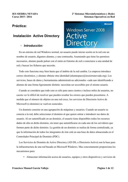 Copy of Instalación de Active Directory en Windows Server 2008
