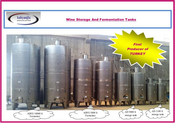 Wine Storage And Fermentation Tanks