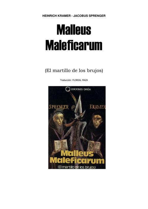 Malleus Maleficarum... El libro de las brujas