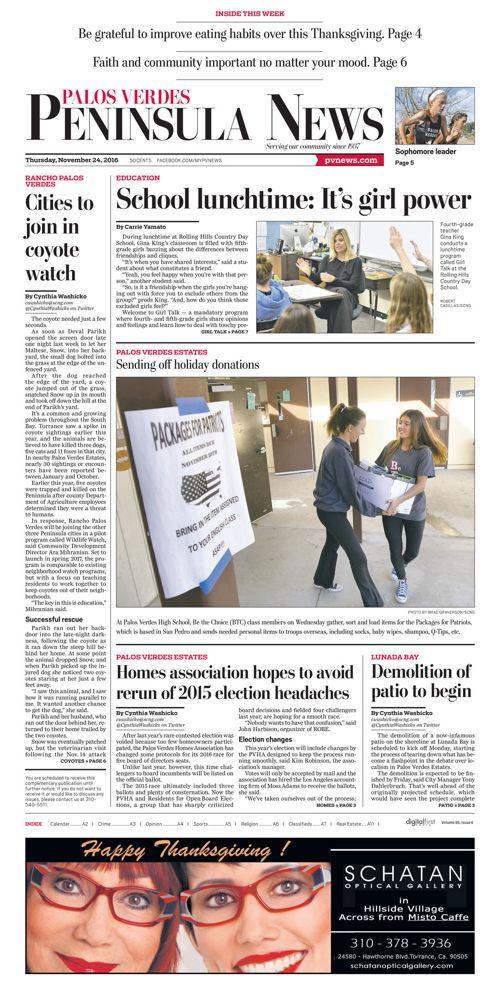 Peninsula News | November 24, 2016