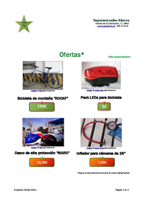Ofertas Promocional de Alejandro Valdés - 2º BACH
