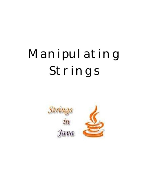 Manipulating Strings