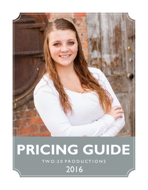 2016 Portrait Pricing Guide