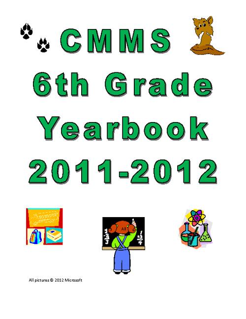 Sixth Grade Yearbook