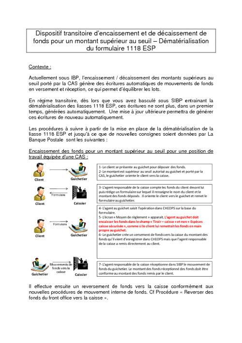 Procédures Dématérialisation 1118 Esp