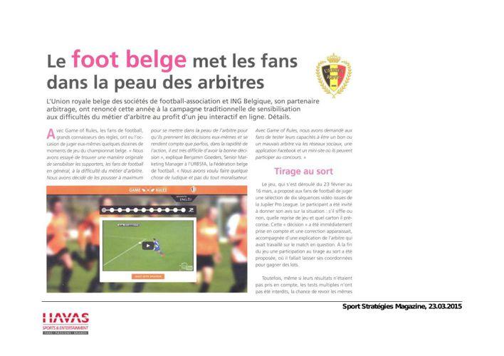 Foot belge