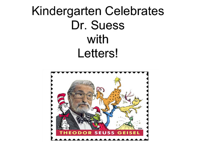 Dr. Suess Letters