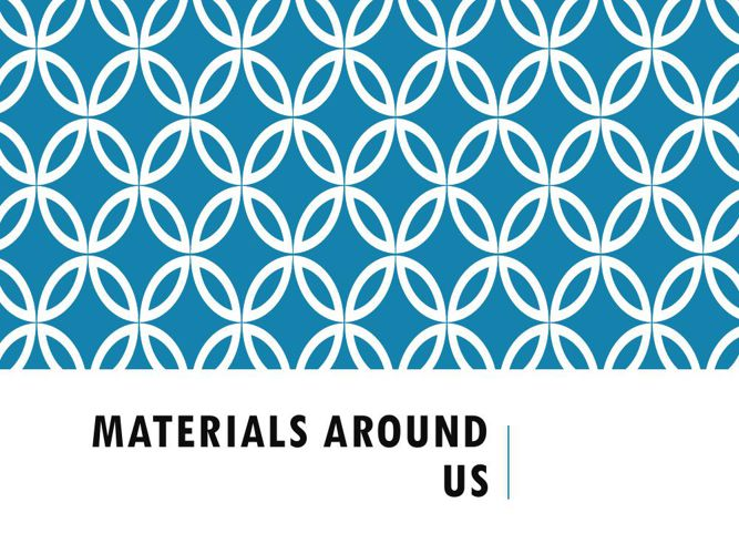Materials Around Us- by Saanchi Jain
