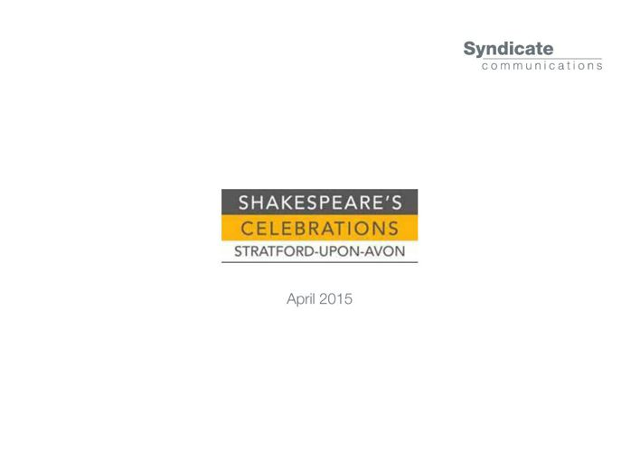 SYN Shakespeare Celebrations