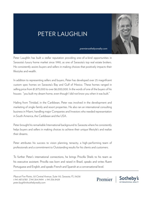About Peter Laughlin - Buyers