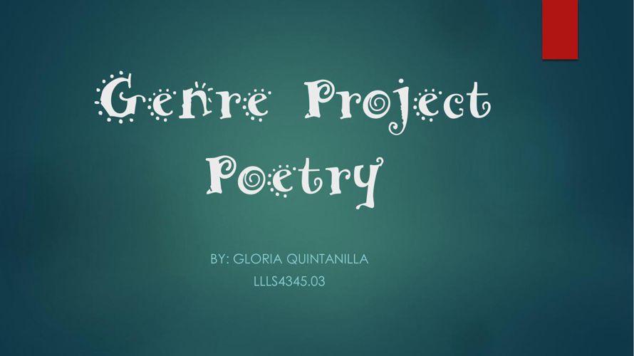 Genre Project Poetry