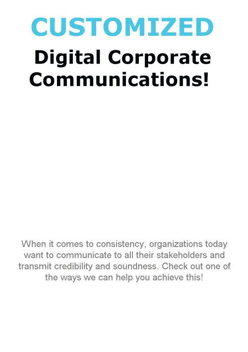 Customized Corporate Communication Publications