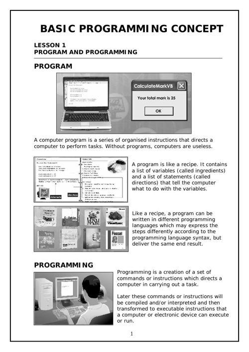 LA3: Programming
