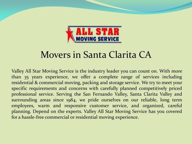 Movers in Santa Clarita CA