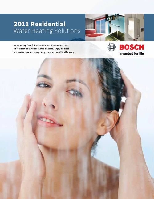 2011 Residential Water Heating Solutions