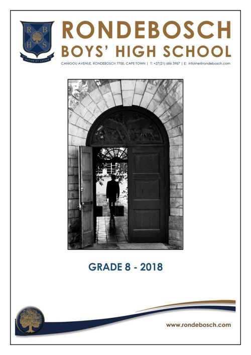 GRADE 8 INFO BOOKLET 2018_Comprehensive
