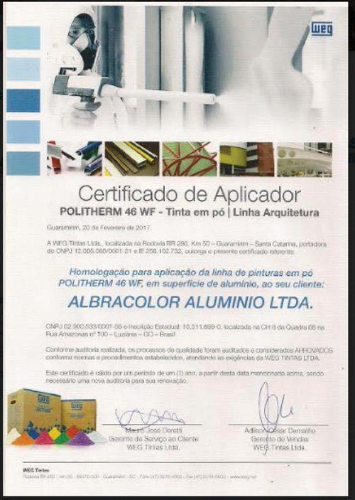 Certificado WEG 2017
