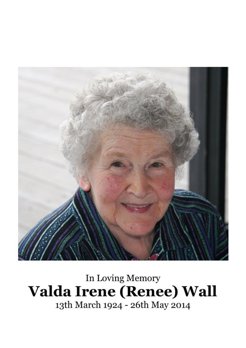 8 Order of Service for Valda Irene Wall