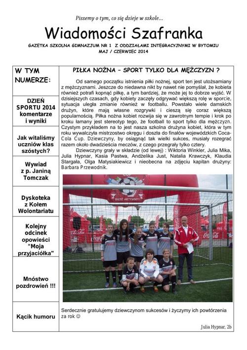 Wiadomości Szafranka 05/06 2014