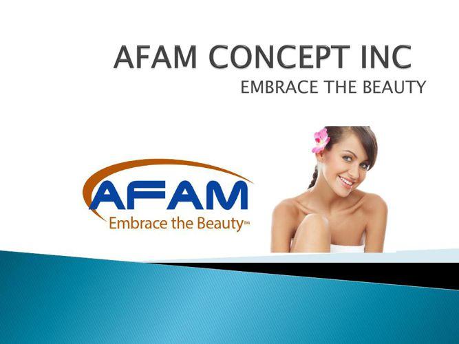 AFAM CONCEPT INC presentation 2015
