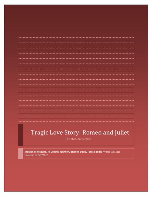 Modern Day Tragic Love Story