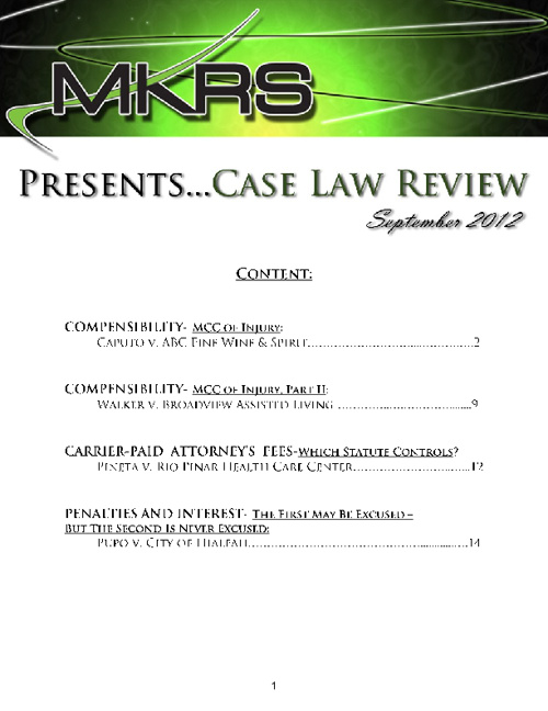 MKRS - September Case Law Review
