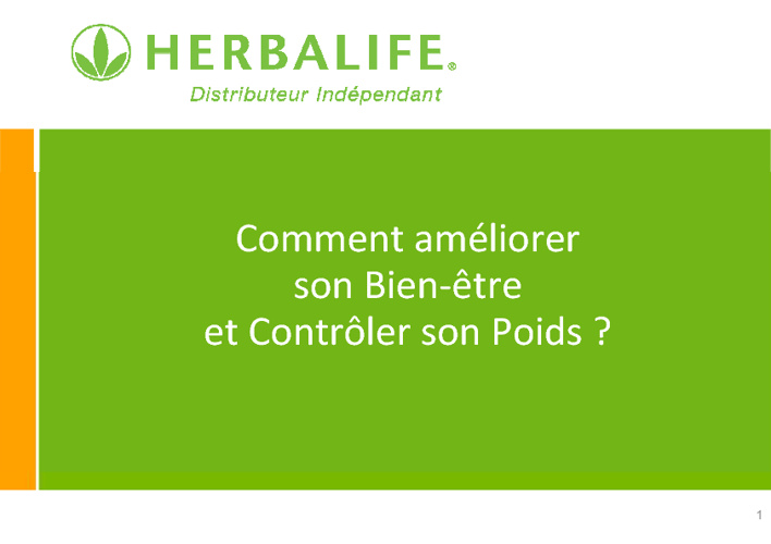 Presentation Nutrition Herbalife