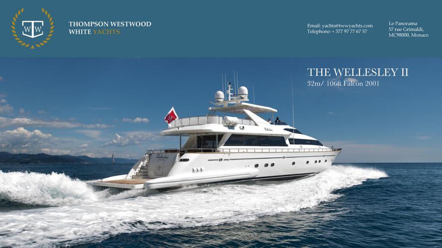 The Wellesley II 32m 106ft Falcon superyacht