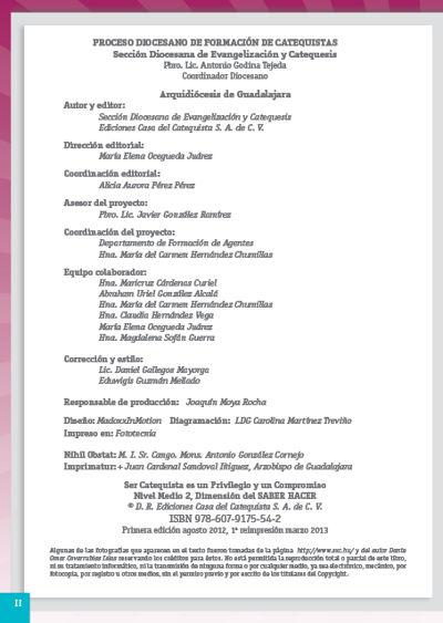 Formación Catequistas - Medio 2 - Saber Hacer – Formador