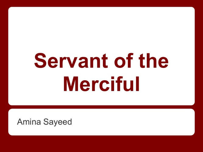 Servant of the Merciful