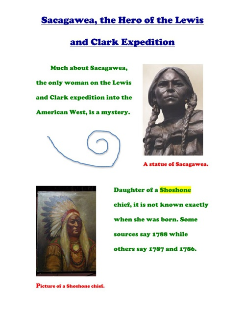 Sacagawea, The Hero of The Lewis and Clark Expidition