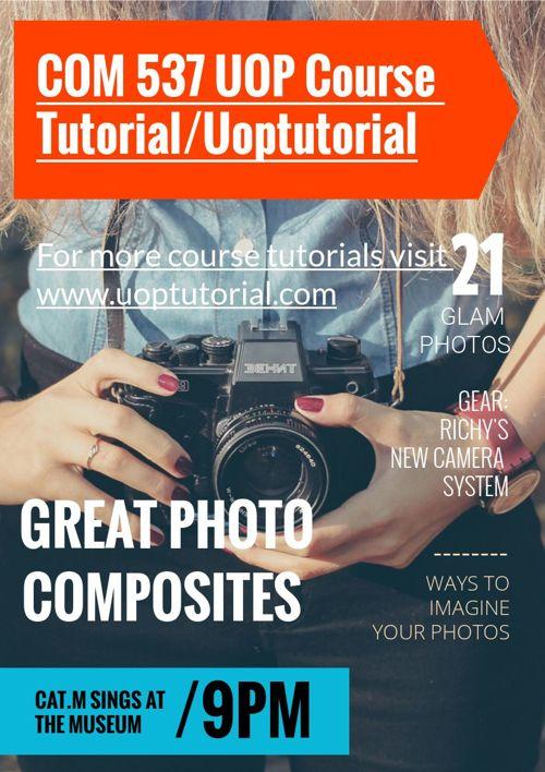 COM 537 UOP Course Tutorial/Uoptutorial