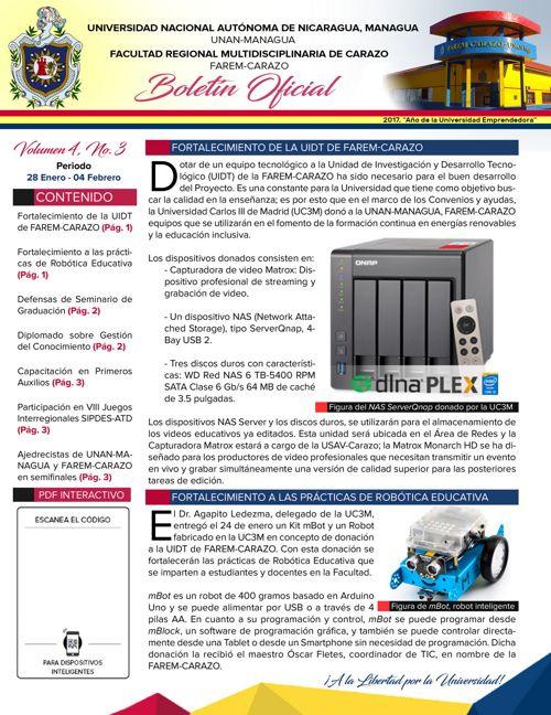 Boletín Oficial (Vol4. Núm.3)